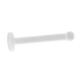 Clear Straight Nose Retainer 0.8mm (18g)