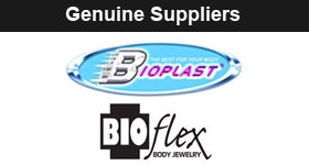 Suppliers of Bioflex and Bioplast Body Jewellery